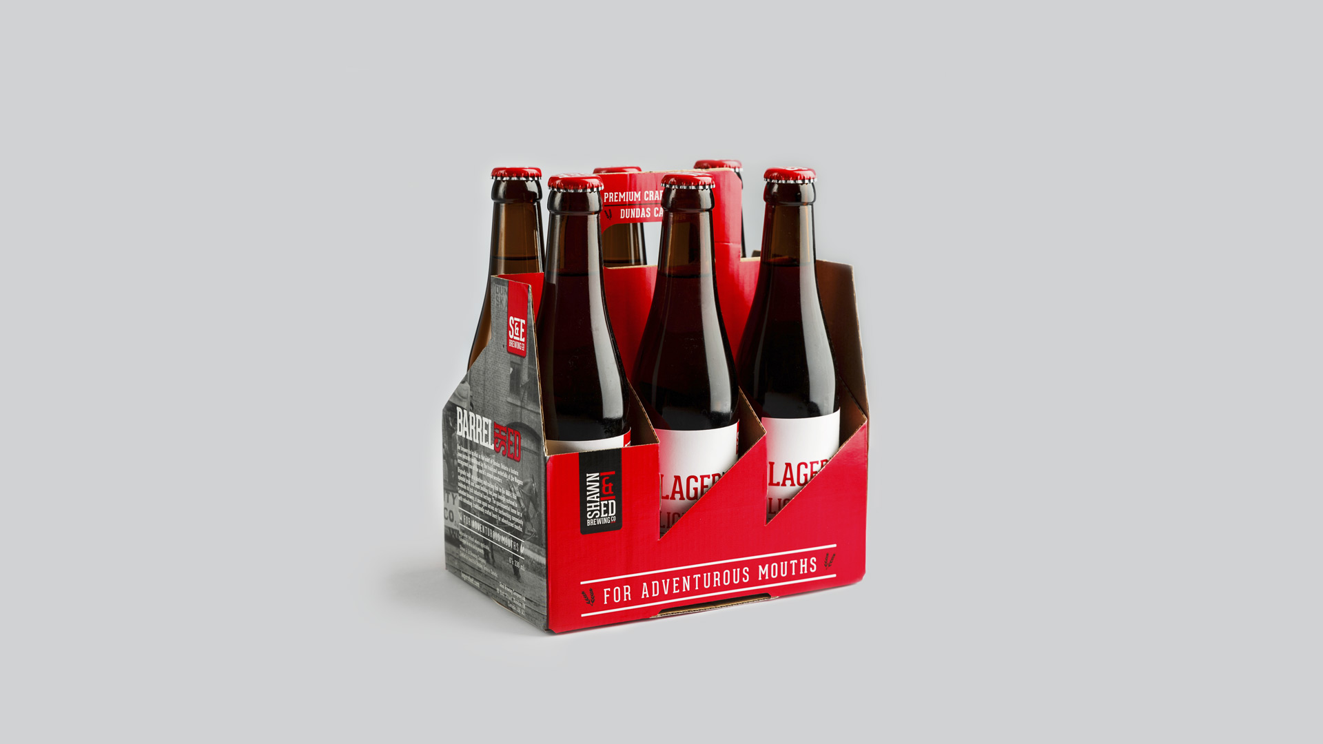 Shawn & Ed Brewing Co. Packaging